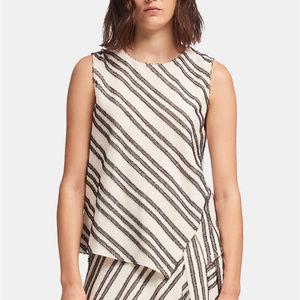 DKNY Eyelash-Striped Asymmetrical Top